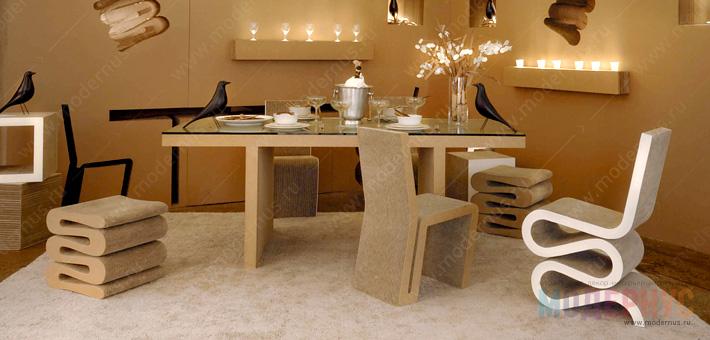 Дизайнерский стул Wiggle от Фрэнка Гери